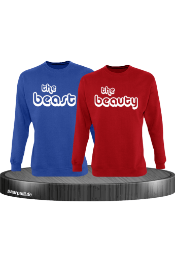 The Beast und The Beauty Partnerlook Sweatshirts