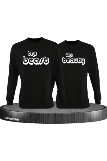 The Beast und The Beauty Partnerlook Hoodies