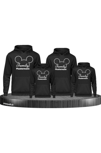 Family Comic Design Hoodies mit Wunschname