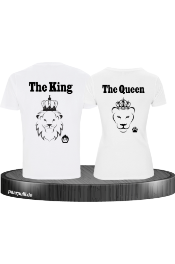 The King The Queen Lion Design partnerlook weiß