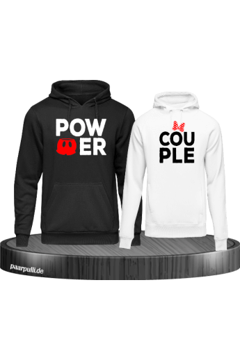 Power Couple mit extra Motiven Partnerlook Hoodies