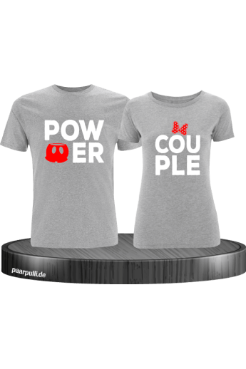 Power Couple mit extra Motiven Partnerlook T-Shirts