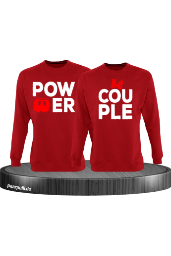 Power Couple mit extra Motiven Partnerlook Sweatshirts
