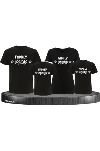Family Squad T-Shirts als 4er Familienlook Set