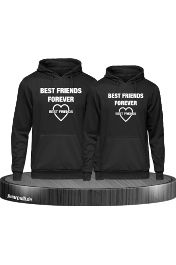 Best Friends forever partnerlook hoodies in schwarz
