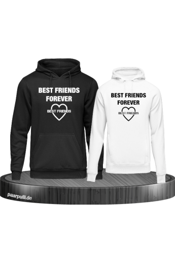 Best Friends Forever mit Herz Hoodies