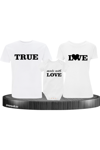True Love und made with Love Familienlook mit Baby-Body