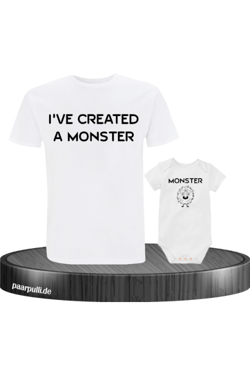 I have created a Monster Vater Kind Partnerlook T-Shirts in weiß