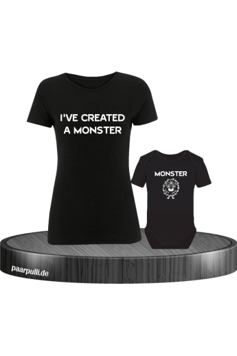 I've created a Monster Mutter und Baby T-Shirts