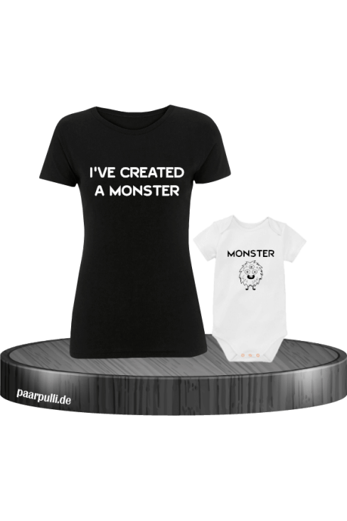 Mutter und Baby I have created a Monster Partnerlook Set in schwarz weiß