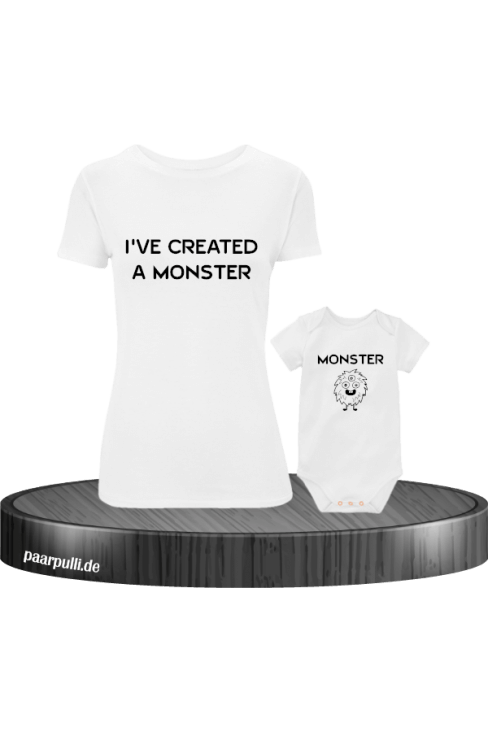 Mutter und Baby I have created a Monster Partnerlook Set in weiß