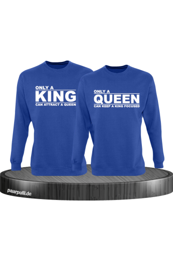 Only a King can attract a Queen Partnerlook Sweatshirts