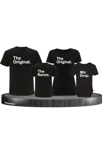 The Original, The Remix und Mic Drop Familienlook T-Shirts