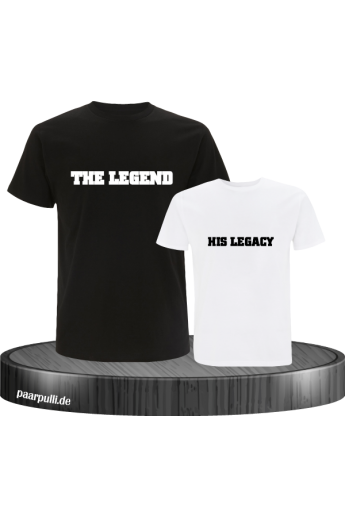 The Legend und His Legacy Vater-Sohn Partnerlook T-Shirts