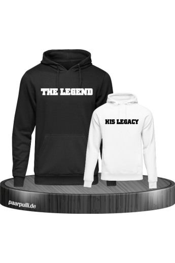 The Legend und His Legacy Vater-Sohn Partnerlook Hoodies