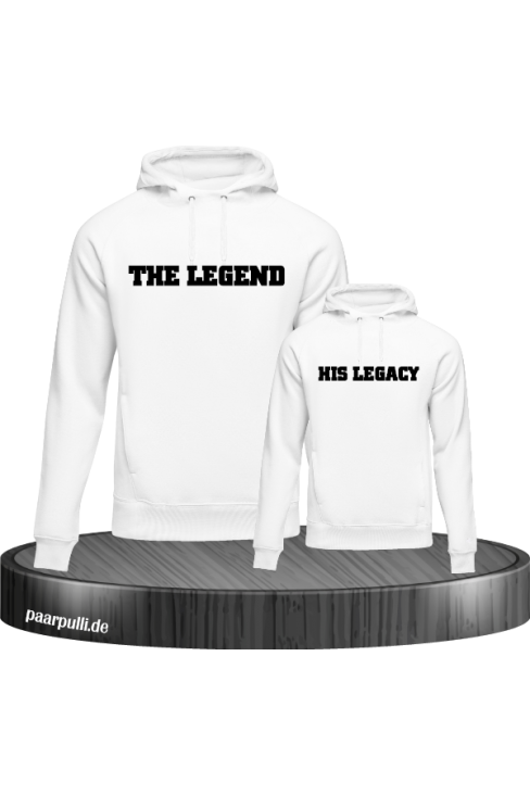 The Legend and His Legacy Vater Sohn Partnerlook Hoodies in weiß
