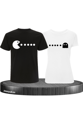 Arcade Style bedruckte T-Shirts als Partnerlook Set