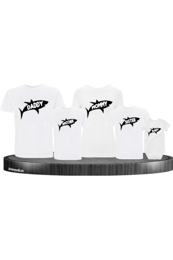 Hai Familienlook 5er T-Shirts-Set