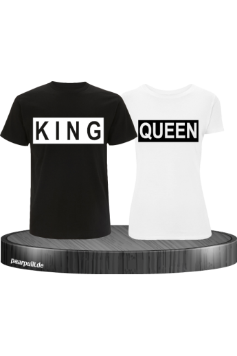 King und Queen im Kasten Partnerlook T-Shirts