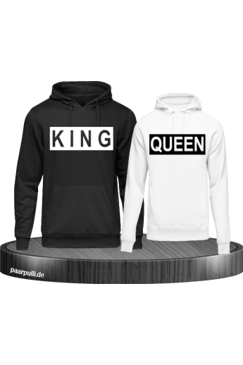 King und Queen im Kasten Partnerlook Hoodies