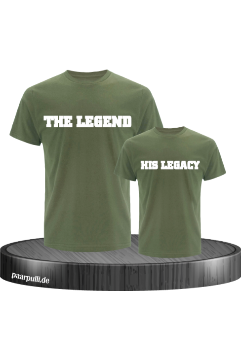 The Legend and His Legacy Vater Sohn Partnerlook Design in grün