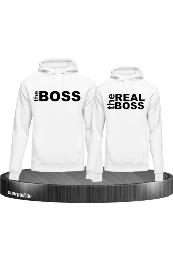 The Boss The Real Boss Partnerlook Hoodies in weiß