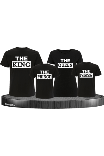 The King Familienlook T-Shirts in schwarz