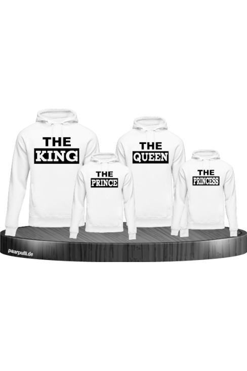 The King Familienlook Hoodies in weiß