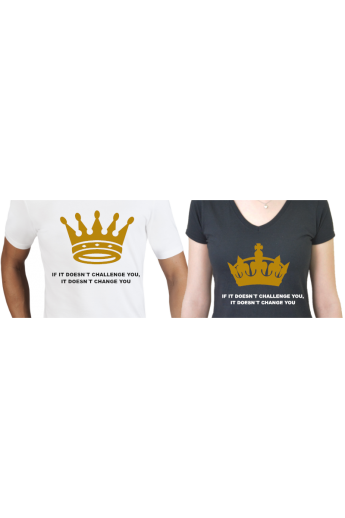 King and Queen Komplett Set mit T-Shirts und Beutel