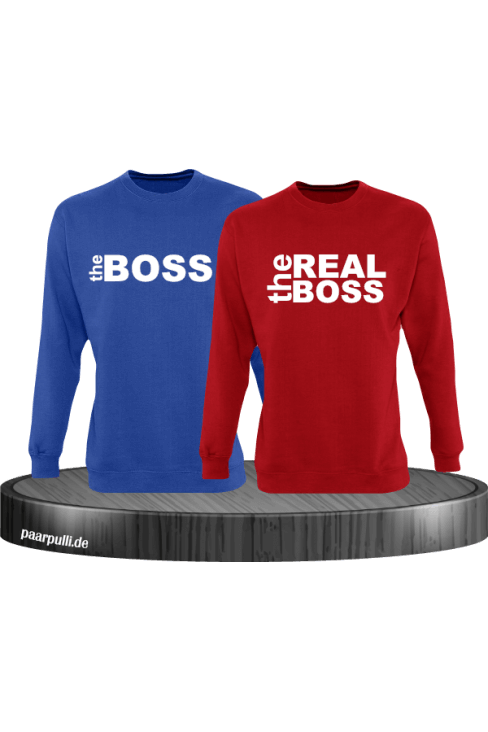 The Boss The Real Boss Partnerlook Sweater in blau rot
