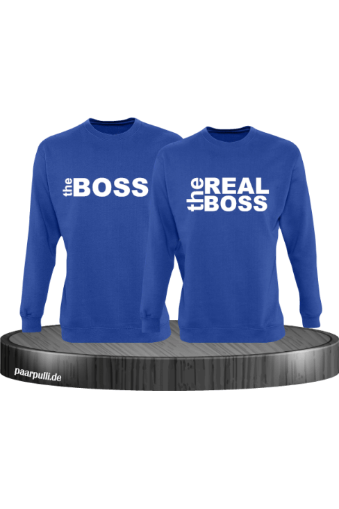 The Boss The Real Boss Partnerlook Sweater in blau