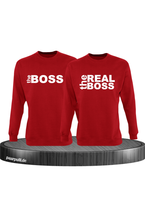 The Boss The Real Boss Partnerlook Sweater in rot