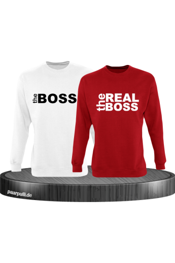 The Boss The Real Boss Partnerlook Sweater in rot weiß