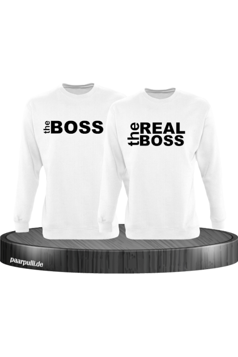 The Boss The Real Boss Partnerlook Sweater in weiß