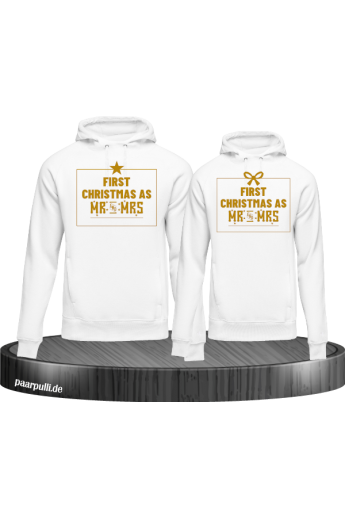 First Christmas as Mr and Mrs Pärchen Hoodies
