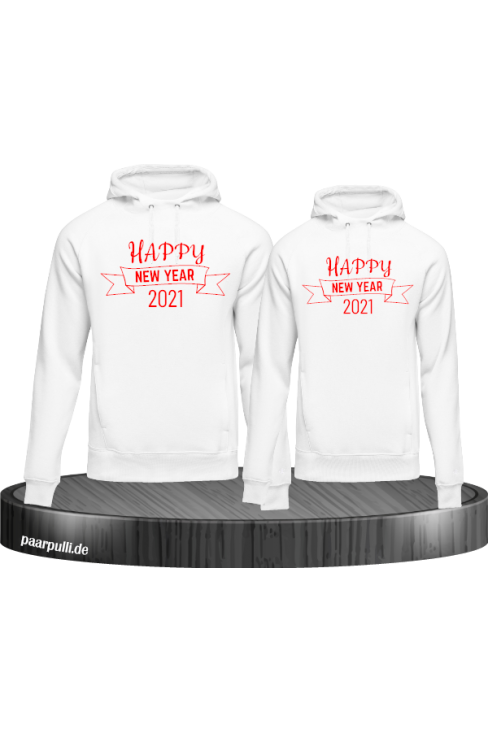 Happy New year 2021 Hoodies in weiß rot