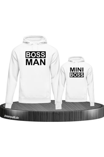 Boss Man Mini Boss Partnerlook Pullis in weiss