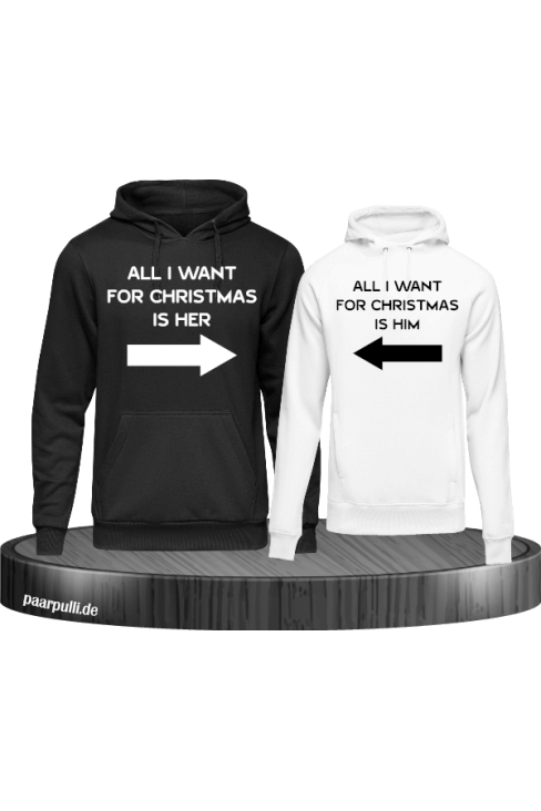 All i want for Christmas is her/him in schwarz weiß