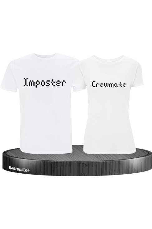 Imposter Crewmate weiß t shirts