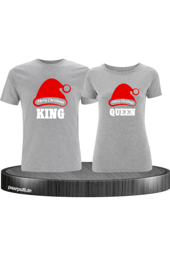 King und Queen Weihnachten Partnerlook T-Shirts