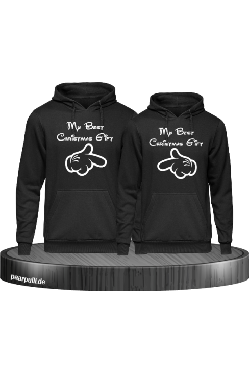 My best Christmas Gift Partnerlook Hoodies in schwarz