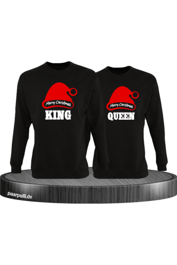 King und Queen Merry Christmas Partnerlook Sweatshirts