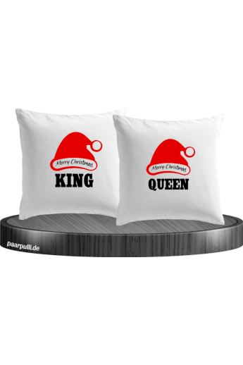 Merry Christmas King und Queen Kissenbezug-Set