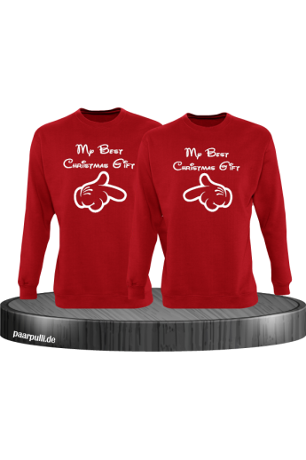 My best Christmas Gift Partnerlook Sweater in rot