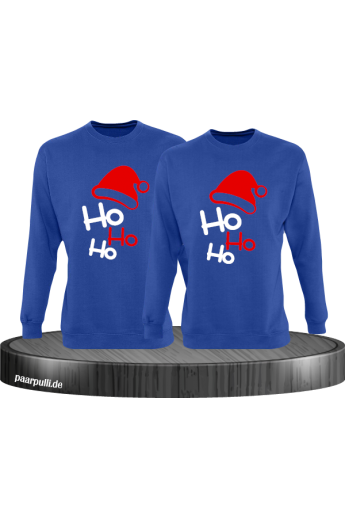 Ho Ho Ho Partnerlook Sweatshirts in blau