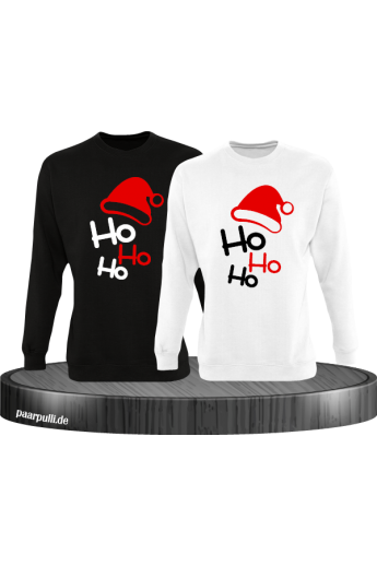 Ho Ho Ho Partnerlook Sweatshirts in schwarz weiß
