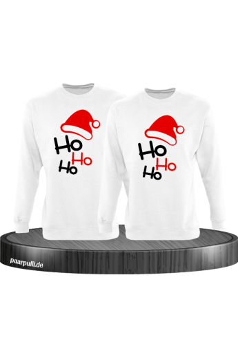 Ho Ho Ho Partnerlook Sweatshirts in weiß