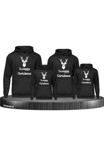Swaggy Christmas Familienlook Hoodies