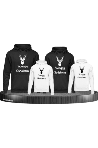 Swaggy Christmas 4er Hoodies in schwarz weiß