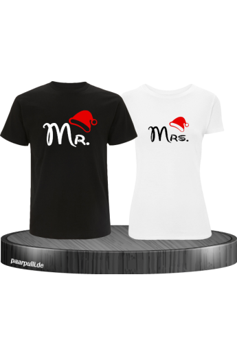 Mr. und Mrs. Partnerlook T-Shirts in schwarz weiß